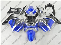 Blue/White Ninja 250R Fairings