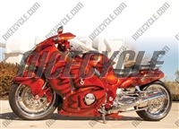 Suzuki GSX-R 1300 Hayabusa Orange Airbrush Fairings