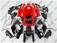 Yamaha YZF-600R Silver Red OEM Style Fairings