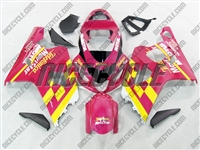 Pink Movistar Suzuki GSX-R 600 750 Fairings