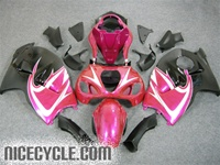 Suzuki GSX-R 1300 Hayabusa Pink on Black Fairings
