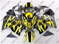 Suzuki GSX-R 1300 Hayabusa Yellow Tribal Fairings