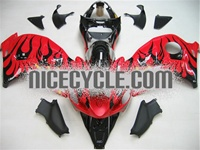 Suzuki GSX-R 1300 Hayabusa Black Fire on Red Fairings