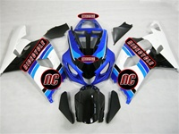 White/Light Blue Suzuki GSX-R 600 750 Fairings