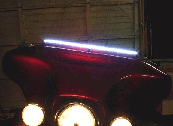 Harley Universal Shield Riderz Windshield Trim With Led