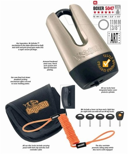 Onguard Boxer 5047 11mm Disc Lock Product Code 5047