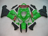Kawasaki ZX6R Green/Matte Black Fairings