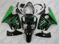 Kawasaki ZX12R Green Flame Fairings