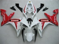 White/Red OEM Style Yamaha YZF-R1 Fairings