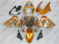 Kawasaki ZX9R Metallic Orange Tribal Fairings