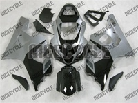 Silver/Black Suzuki GSX-R 600 750 Fairings
