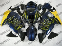 Suzuki GSX-R 1300 Hayabusa Yellow Flame/Deep Blue Fairings