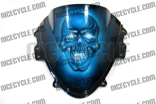 Custom Motorcycle Windscreen Fully Airbrushed And