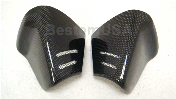 Suzuki gsxr ­ carbon fiber exhaust end caps