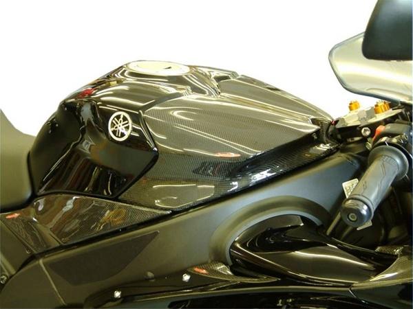 yamaha yzf    gas tank cover real carbon fiber