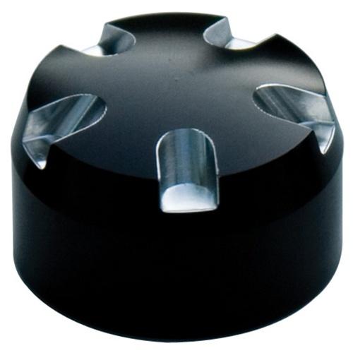 fork cap set mm black anodized contrast cut