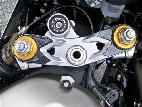 Kawasaki Zx6r 05 06 Carbon Look Triple Tree Cover