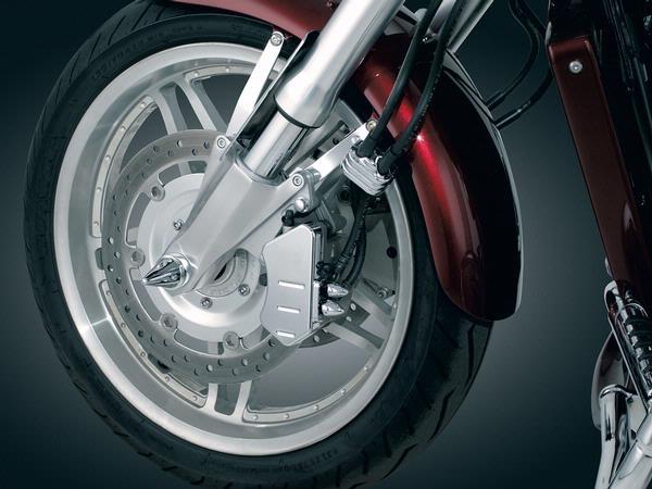 Carbon Fiber Bike >> Honda VTX1800 Chrome Front Caliper Covers by Kuryakyn