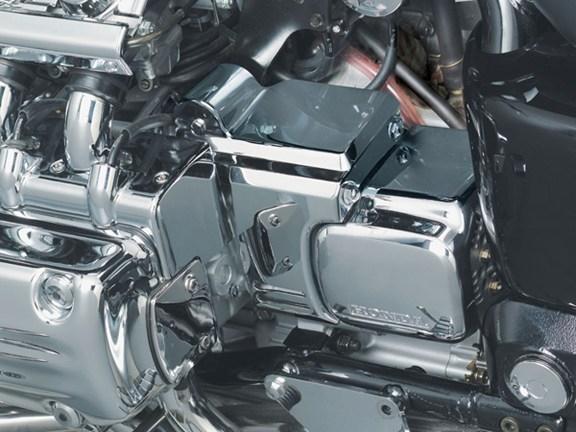 Honda Valkyrie Chrome Transmission Cover Set by Kuryakyn