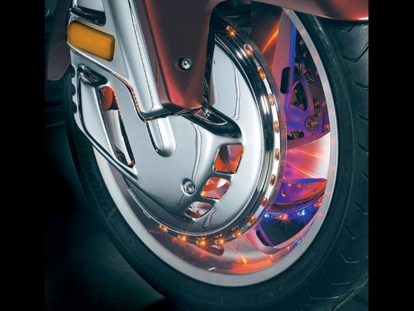 Honda Gl1800 F6b 2001 Present Chrome Rotor Covers W Led