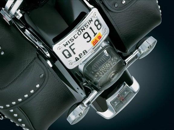 Honda Grom Price >> Honda VTX1300 / VTX1800 CHROME Curved Laydown License Plate Mount with Frame by Kuryakyn