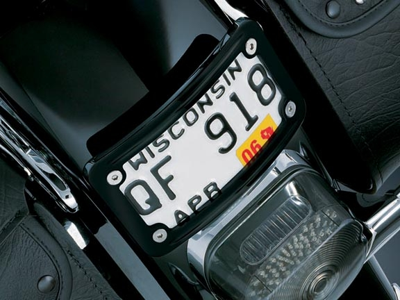 Harley Davidson Black Curved Laydown License Plate Mount