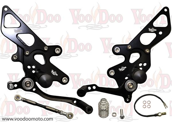 Kawasaki Ninja 250r Ninja 300 Rear Sets By Voodoo Black