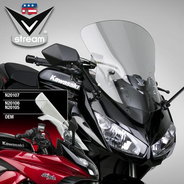 National Tire And Wheel >> Kawasaki Z1000SX Ninja 2011-Present Windscreen Light Tinit Sport/Tour V-Stream by National Cycle