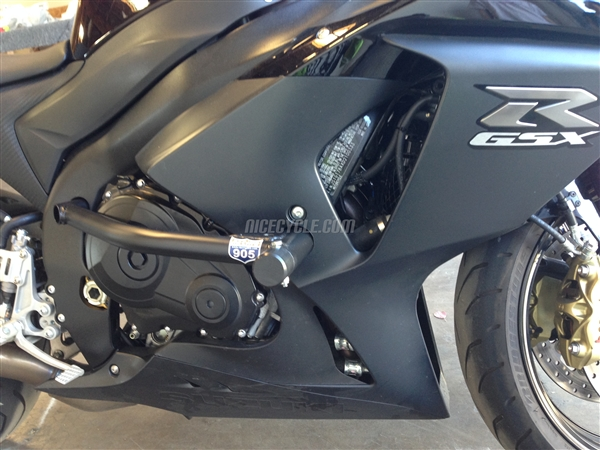 suzuki gsxr 1000 race rail frame sliders stunt armor 2013-2016
