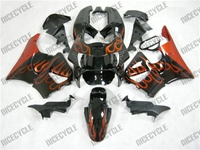 Honda CBR 900RR Orange Flame Fairings