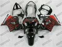 Red Flames Honda VFR 800 Fairings