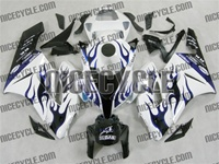 Honda CBR 1000RR White/Blue Flame Fairings