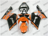 Kawasaki ZX6R Orange/Black Monster-ous Fairings