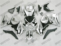 Suzuki GSX-R 1000 Black Tribal On Silver Fairings