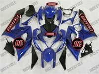 Suzuki GSX-R 1000 Black Flames on Blue Fairings