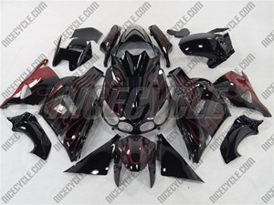 Kawasaki ZX14R Red Flame Fairings