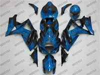 Suzuki GSX-R 1000 Airbrush Blue Flame Fairings