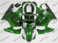 Kawasaki ZX12R Deep Green Flame Fairings