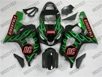 Green Fire Suzuki GSX-R 600 750 Fairings