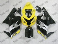 Silver/Black/Yellow Suzuki GSX-R 600 750 Fairings