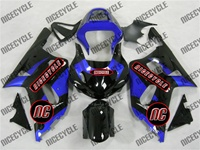 Plasma Blue/Black Suzuki GSX-R 600 750 Fairings