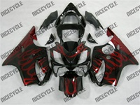 Honda CBR 600 F4i Airbrush Flame Fairings