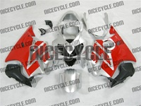 Honda CBR 600 F4i Silver/Red OEM Style Fairings