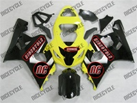 Black/Yellow Suzuki GSX-R 600 750 Fairings