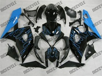 Suzuki GSX-R 1000 Sky Blue Flames Fairings
