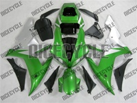 Yamaha YZF-R1 Metallic Green/Silver Fairings