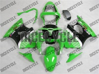 Green Race Kawasaki ZX6R Fairings