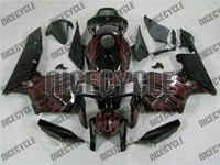 Honda CBR 600RR Dual Red Flame Fairings