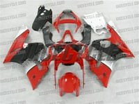 Kawasaki ZX6R Red/Black OEM Style Fairings