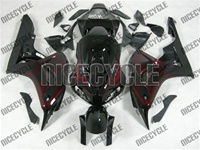 Honda CBR 1000RR Black/Red Flame Fairings